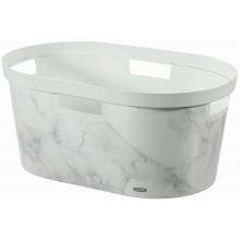 CURVER INFINITY 39L Koš na čisté prádlo 58,5 x 38,5 x 26,5 cm mramor 04762-M74