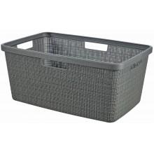 CURVER JUTE 46L Koš na čisté prádlo 59 x 39 x 26 cm, tmavě šedý 08091-G44