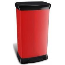 CURVER DECOBIN 50L odpadkový koš 39x29x73cm červený 02162-931