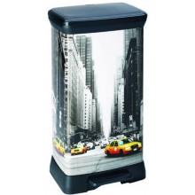 CURVER DECOBIN 50L New York odpadkový koš 39x29x73cm 02162-N29