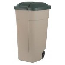 CURVER popelnice 110L 88x52x58cm béžová/zelená 12900-158