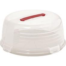 CURVER CAKE BOX ROUND s poklopem 34,7 x 15,2 cm bílý 00416-128