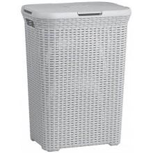 CURVER STYLE 60L Koš na špinavé prádlo 44,8 x 61,5 x 34,1 cm světle šedý 00707-099