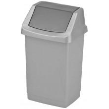 CURVER CLICK IT 50L odpadkový koš 38,5x33,5x63,5cm stříbrný/antracit 04045-877