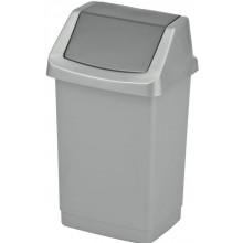 CURVER CLICK IT 25L odpadkový koš 26,5x32,5x50,5cm stříbrný/antracit 04044-877