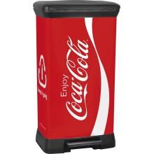 CURVER DECOBIN 50L CocaCola odpadkový koš 39x29x73cm 02162-C14