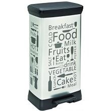 CURVER DECOBIN 50L KITCHEN odpadkový koš 39x29x73cm stříbrný 02180-K07