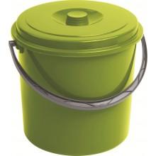 CURVER kbelík s víkem 10 l zelený 03206-114