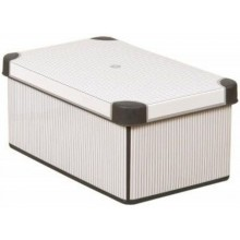 CURVER CLASSICO S box úložný dekorativní 29,5 x 19,5 x 13,5 cm šedá/bílá 04710-D41