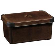 CURVER LEATHER S box úložný dekorativní 29,5 x 13,5 x 19,5 cm hnědý 04710-D12