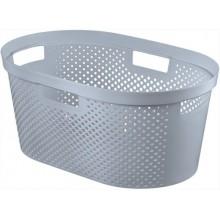 CURVER INFINITY DOTS koš na prádlo 39 L šedý 04755-099