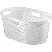 CURVER INFINITY DOTS koš na prádlo 39 L bílý 04755-N23