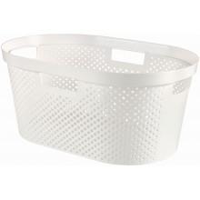 CURVER INFINITY 39L Koš na čisté prádlo, recyklovaný plast, bílý 04755-040