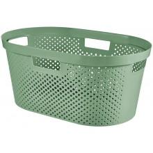 CURVER INFINITY 39L Koš na čisté prádlo, recyklovaný plast, zelený 04755-S86
