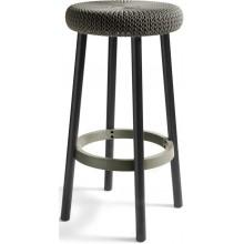 CURVER KNIT barová stolička plast hnědá 09024-X59