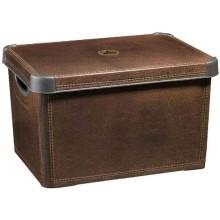 CURVER LEATHER L box úložný dekorativní 39,5 x 25 x 29,5 cm hnědý 04711-D12