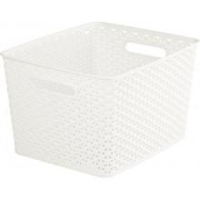CURVER úložný box RATTAN Y STYLE L, 35 x 30 x 22 cm, krémový, 03612-885