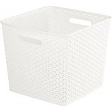 CURVER úložný box RATTAN Y STYLE Square, 32,5 x 33,5 x 28 cm, krémový, 03613-885