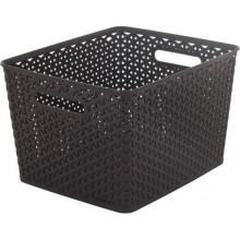 CURVER úložný box RATTAN MY STYLE L, 35 x 30 x 22 cm, tmavě hnědý, 03612-210