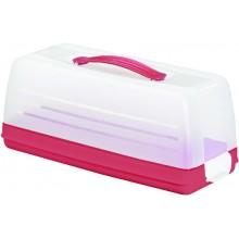 CURVER CAKE BOX s poklopem červený 00414-472