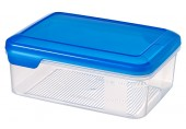 CURVER FLEXI CHEF dóza na potraviny, 8 x 20 x 15 cm, 1,5 l, transparentní/modrá, 00388-281