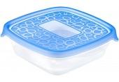 CURVER TAKE AWAY 2 sada dóz čtverec, 18 x 16 x 8 cm, 0,6 l, transparentní/modrá, 00473-862
