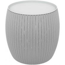 KETER KNIT stolek s úložným prostorem, 40,6 x 40,6 x 41,4 cm, šedá 17203083