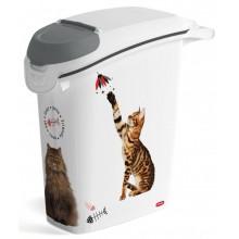 CURVER kontejner na suché krmivo 10kg/23L 49,7 x 50,6 x 23,3 cm kočka 03882-L30