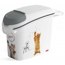 CURVER kontejner na suché krmivo 6kg/15L 35,5 x 50,3 x 23,2 cm kočka 03883-L30