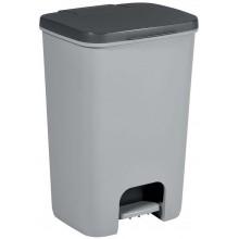 CURVER ESSENTIALS Koš na odpadky 40l, antracit/silver 00760-686