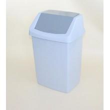 CURVER Odpadkový koš CLICK, 38,5 x 33,5 x 63,5 cm, 50 l, luna/granit, 04045-591