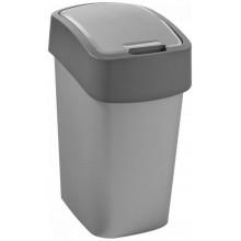 CURVER FLIPBIN 10l Odpadkový koš 35 x 18,9 x 23,5 cm stříbrná/šedá 02170-686
