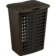 CURVER koš na špinavé prádlo, 43 x 34 x 57 cm, 60L, tmavě hnědá, 00049-210
