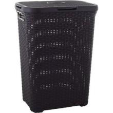 CURVER Koš na špinavé prádlo RATTAN, 61,5 x 26,5 x 44,8 cm, 40 l, tmavě hnědý, 00709-210