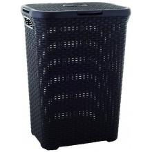 VÝPRODEJ CURVER Koš na špinavé prádlo RATTAN 60 l tmavě hnědý R00707-210 PRASKLÝ
