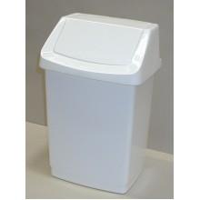 CURVER Odpadkový koš CLICK, 38,5 x 33,5 x 63,5 cm, 50 l, bílý, 04045-026
