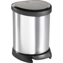 CURVER Odpadkový koš DECOBIN Pedal, 27,7 x 24,6 x 21 cm, 5 l, stříbrný, 02160-599