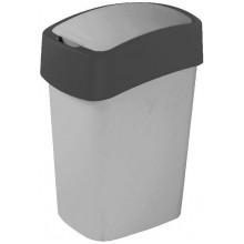 CURVER Odpadkový koš Flipbin, 35 x 18,9 x 23,5 cm, 10 l, šedý, 02170-686
