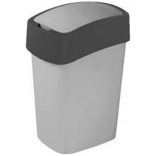 CURVER Odpadkový koš Flipbin, 65,3 x 29,4 x 37,6 cm, 50 l, šedý, 02172-686