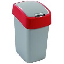CURVER Odpadkový koš Flipbin 50 l stříbrná/červená