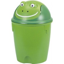 CURVER Odpadkový koš FROG, 26,5 x 26,5 x 37 cm, 12 l, zelená, 07120-901