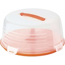 CURVER CAKE BOX ROUND s poklopem 34,7 x 15,2 cm oranžový 00416-286