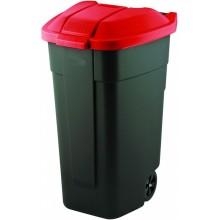 CURVER popelnice, 88 x 52 x 58 cm, 110 l, červená, 12900-879