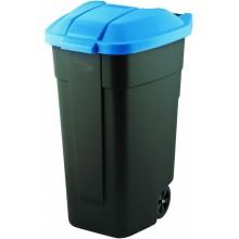 CURVER popelnice 110L 88x52x58cm černá/modrá 12900-857