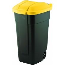 CURVER popelnice 110L 88x52x58cm černá/žlutá 12900-224