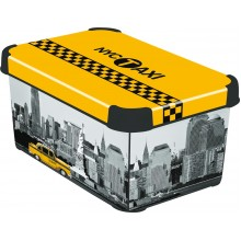 CURVER NEW YORK S box úložný dekorativní 29,5 x 19,5 x 13,5 cm 04710-D16