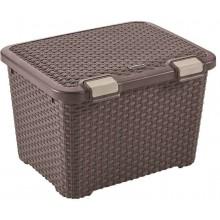 VÝPRODEJ CURVER RATTAN STYLE úložný box, 49 x 40 x 34 cm, 43 l, hnědý, 00711-210, BEZ VÍKA