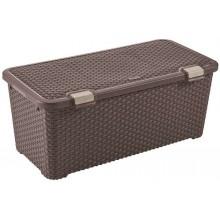 VÝPRODEJ CURVER RATTAN STYLE úložný box, 79 x 40 x 33 cm, 72 l, hnědý, 72 l 00712-210, BEZ VÍKA