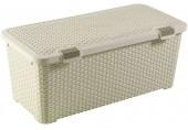 CURVER RATTAN STYLE úložný box, 79 x 40 x 34 cm, 72 l, krémová, 00712-885
