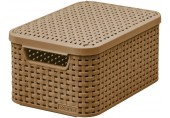 CURVER STYLE S úložný box s víkem 29,1 x 19,8 x 14,2 cm mocha 03617-213